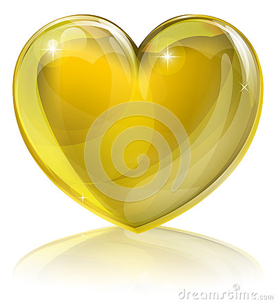 Free Heart Of Gold Stock Photography - 26680562