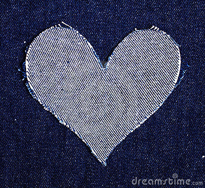 Free Heart Of Jeans Stock Photography - 19230562