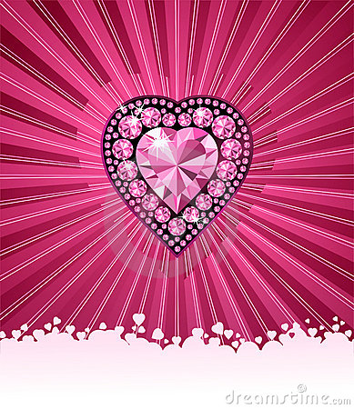Free HEART OF LOVE / Diamond Heart / Vector Background Stock Photo - 3776310