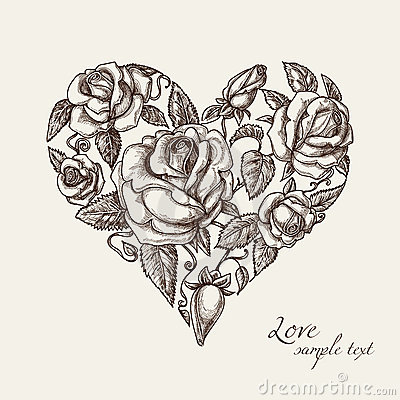 Free Heart Of Roses Stock Images - 22668994
