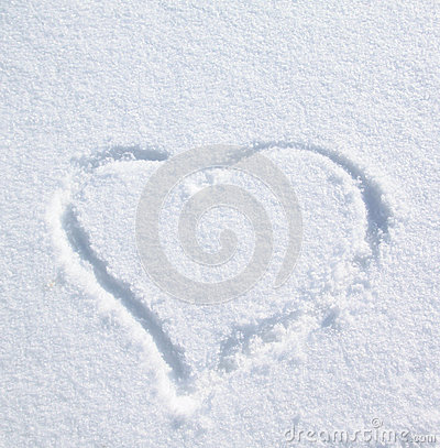 Free Heart On The Snow Royalty Free Stock Photo - 25133015