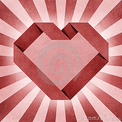 Heart origami recycled paper craft