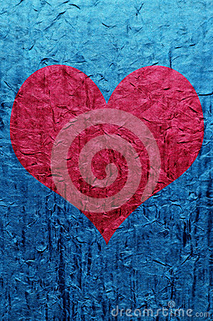 Heart over blue