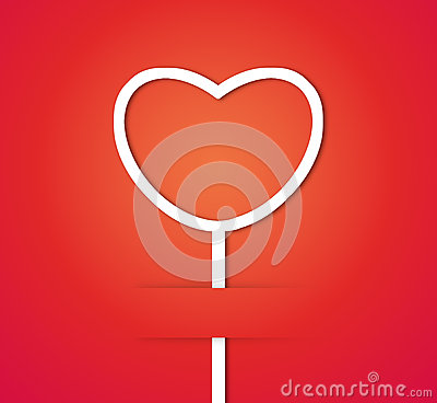 Heart paper label