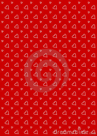 Heart Pattern Background Red