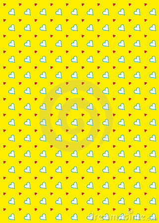 Heart Pattern Background Yellow