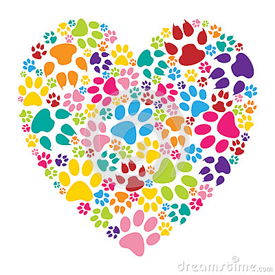 Free Heart Paw Print Stock Photography - 50760122