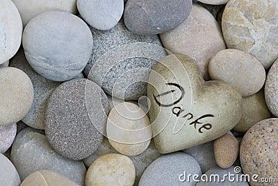 Heart on pebble