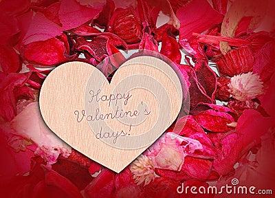 Heart on petals