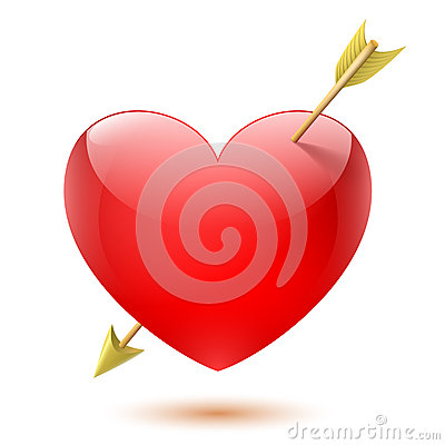 Free Heart Pierced By Arrow Stock Images - 28640084