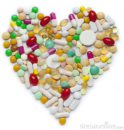 Heart of pills and capsules
