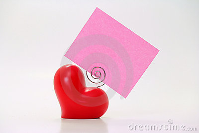 Heart Placecard Pink