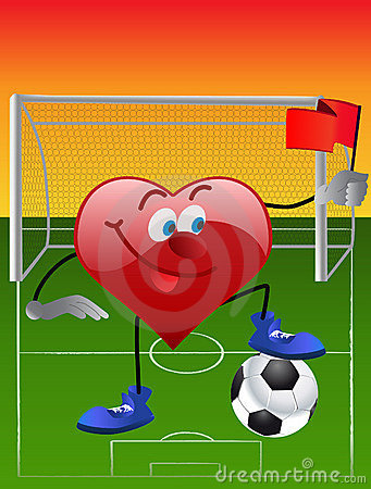 Heart playing in football