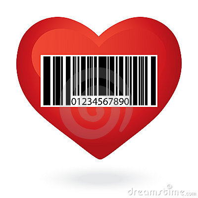 Heart with price