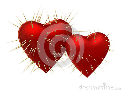 Heart with prickles