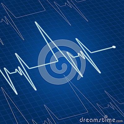 Heart pulse on screen