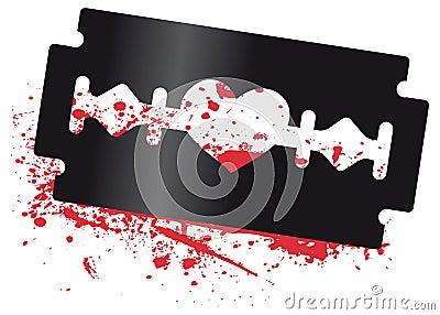 Heart Razor Blade