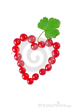 Heart of red currant