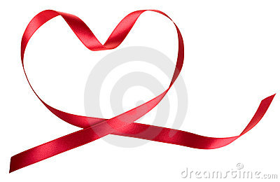 Heart Of The Red Ribbon Stock Images - Image: 22684214
