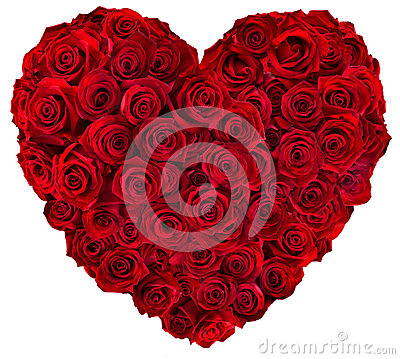 Heart of red roses Stock Photo