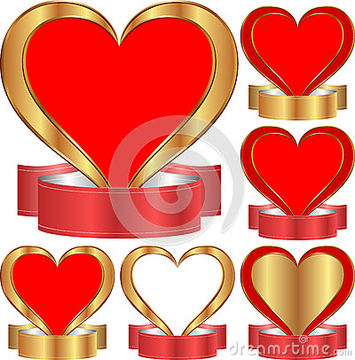 Heart With Ribbon Stock Photos - Image: 28880173