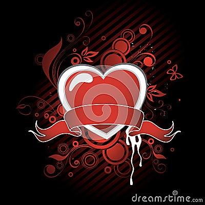 Heart and ribbon