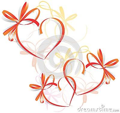 Free Heart Ribbon Greeting Card - S Royalty Free Stock Photography - 3943967