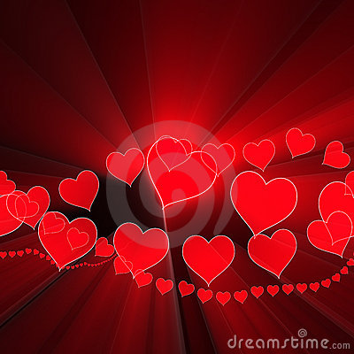 Heart romance valentines background glowing