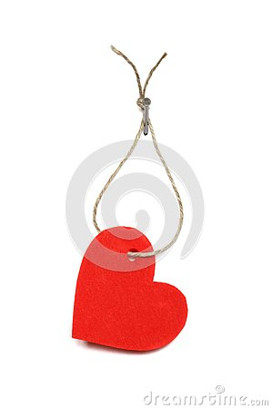 Heart On Rope Royalty Free Stock Images - Image: 18976879