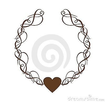 Heart Scroll Wreath