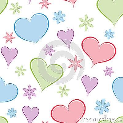 Heart seamless background.