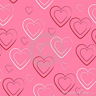 Heart seamless texture and background