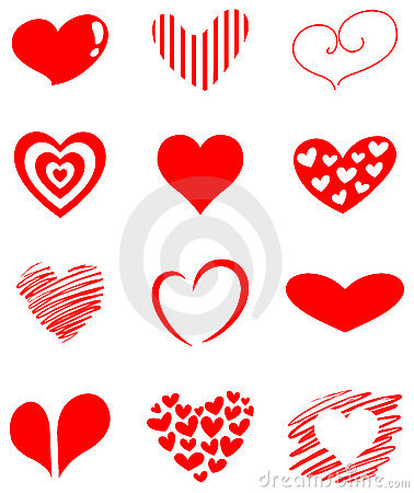 Free Heart Set Royalty Free Stock Image - 23028686