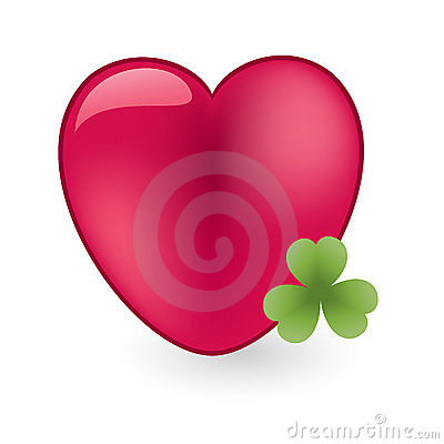 Heart with shamrock