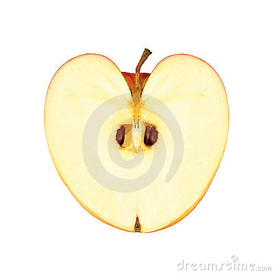 Heart shape apple