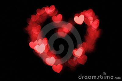 Heart shape bokeh