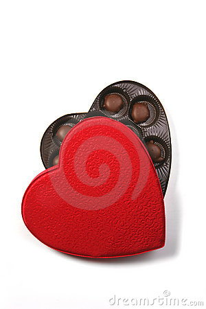 Free Heart Shape Box Of Chocolates Stock Photo - 1787530