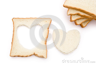 Heart shape bread