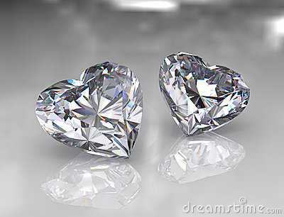 Heart shape brilliant diamond stones