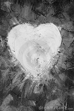 Heart shape on canvas