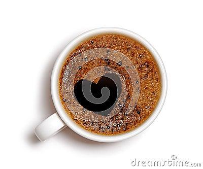 Heart Shape Coffee  Foam