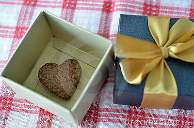Heart Shape Cookie in Gift Box