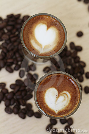 Heart Shape Espresso Coffee