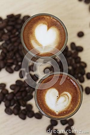 Heart Shape Espresso Coffee