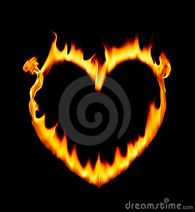 Heart shape fire