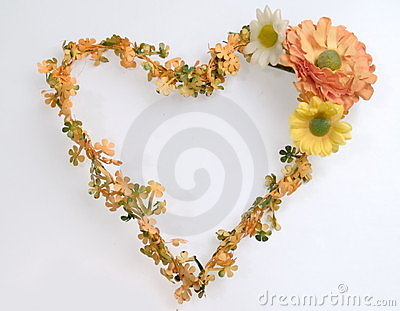 Heart shape flower wreath