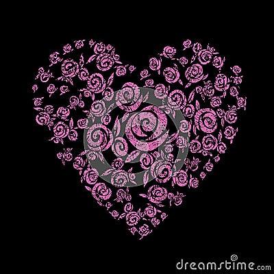 Heart shape from flowers