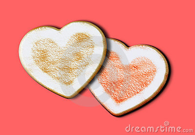 Heart shape home made cookies