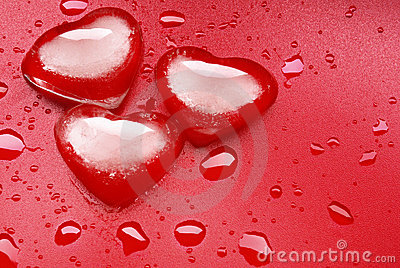 Heart shape ice
