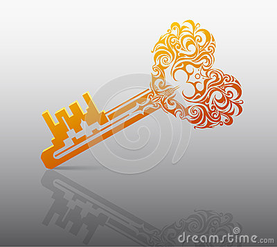 Heart shape key